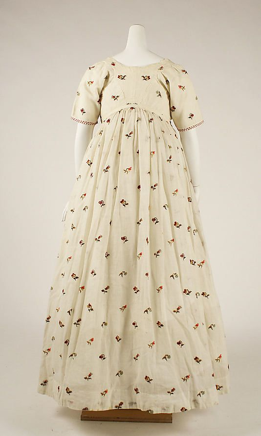 Dress    Date:      1796–98  Culture:      British  Medium:      cotton