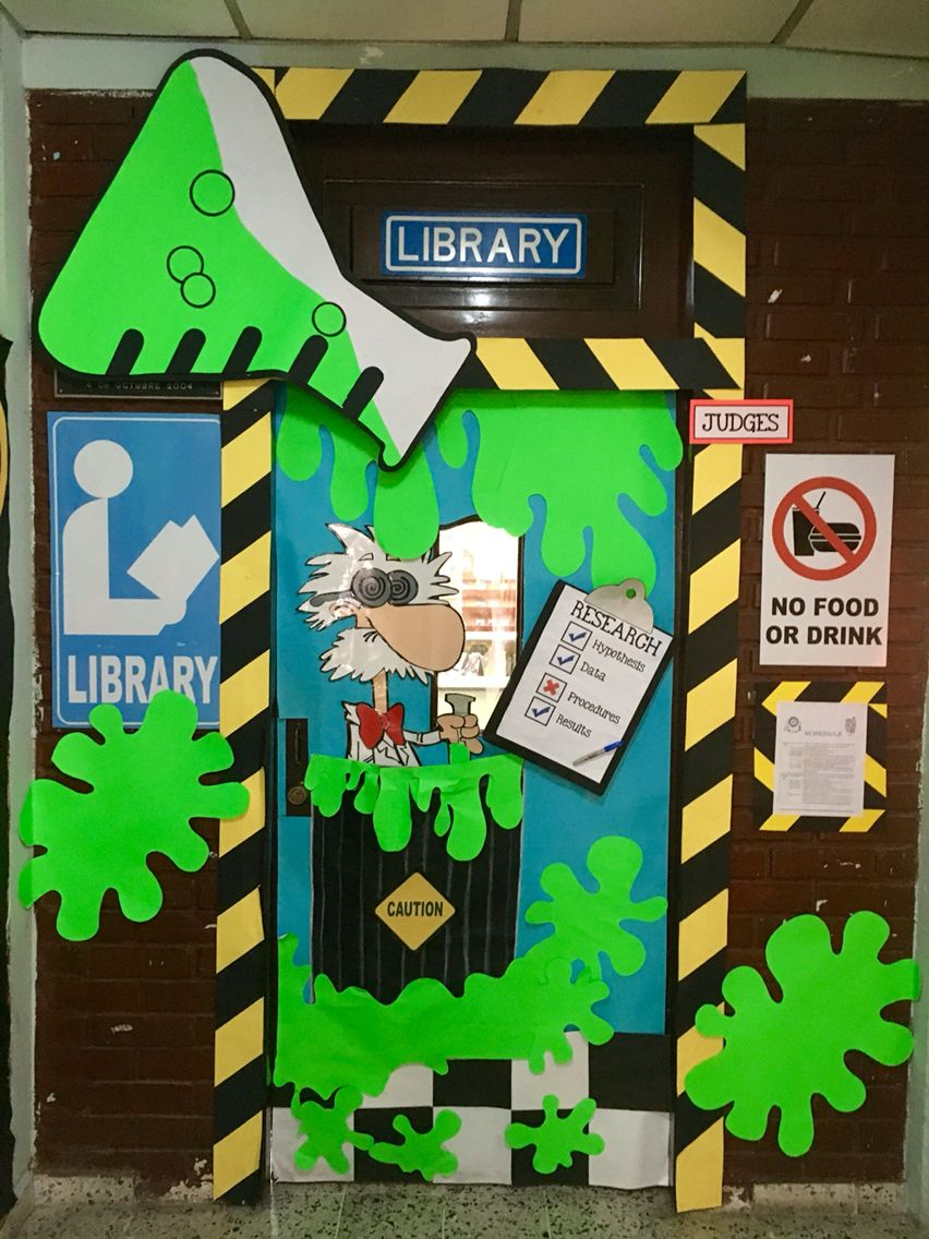 Classroom Ideas Science ~ Library science door pinterest doors