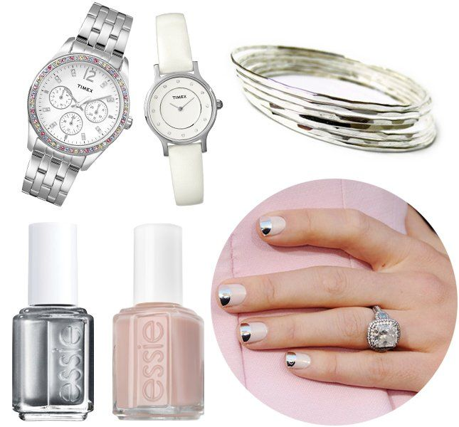 Nailed It! 11 DIY Manicures + Matching Wrist Candy via Brit + Co.