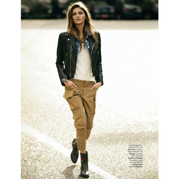 Anja Voskresenska Models Chic Statement Jackets for ELLE Spain found on Polyvore