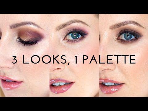 3 looks 1 palette  anastasia modern renaissance makeup