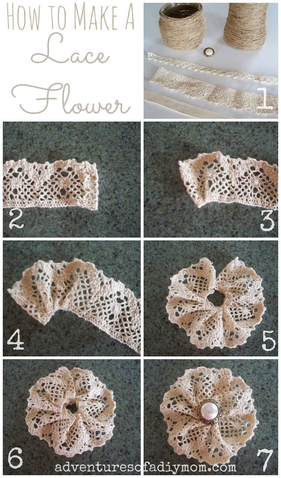 Adventures Of A Diy Mom  How To Make A Lace Flower