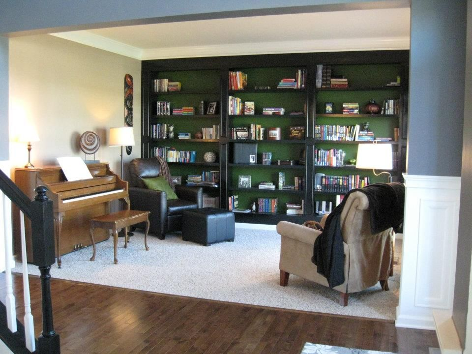 . Library  Instead of making a formal living room where no one will