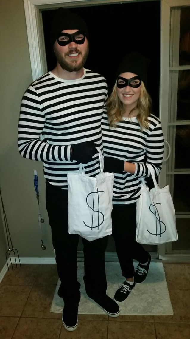 partners in crime 2015 halloween couples robber costume caitlin 39 s world pinterest robber. Black Bedroom Furniture Sets. Home Design Ideas