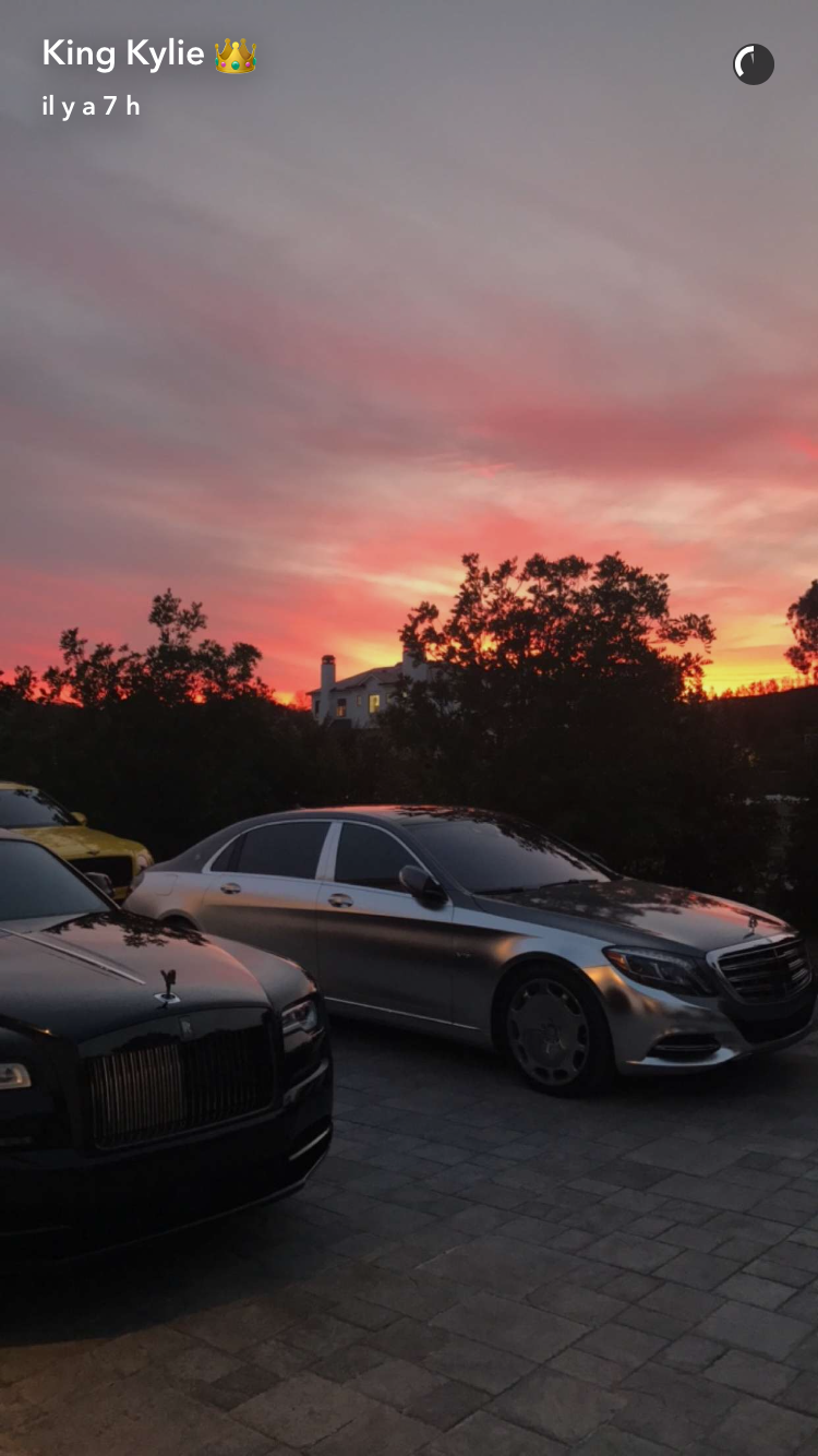 Kylie Jenner on SnapChat | landscape | Voitures de luxe et