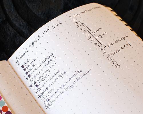 Get a sneak peek at my how I use my Bullet Journal on PlantBasedBride.com!