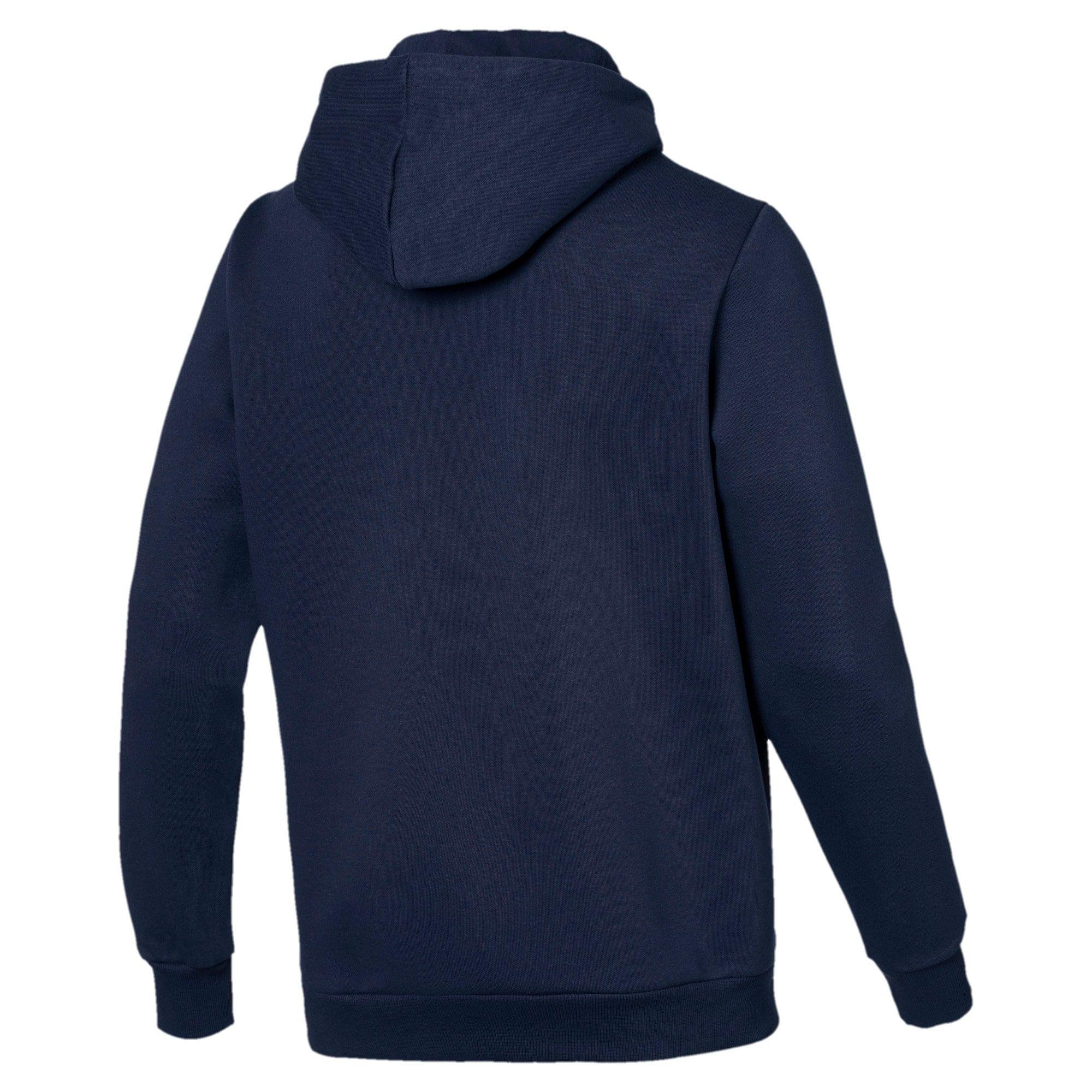 PUMA Sweat à capuche Essentials Fleece pour Homme, Bleu