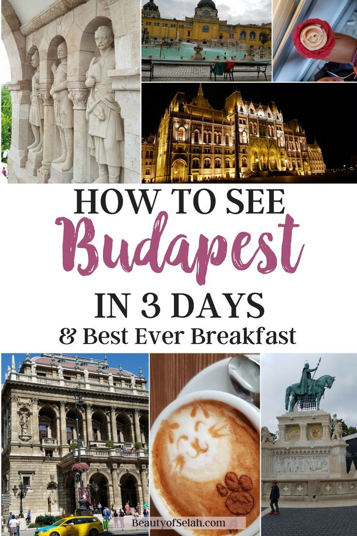to see Budapest in 3 days + Best Ever Breakfast 3 Full days in Budapest Hungary. So many sights to see and discover. The food is delicious, the history is rich and the people are amazing. |Budapest | Hungary | 3 days | Three Days | Budapest Hungary |3 Full days in Budapest Hungary. So many sights to see and discover. The food is delicious, the history is rich and...