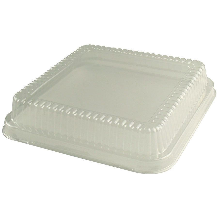 Durable packaging p1155500 clear lid for 8 square foil