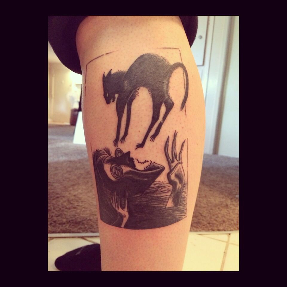 Coraline Tattoo Other Mother Being Attacked By The Cat Coraline Tattoo Coraline Tattoo Maple Leaf Tattoo Tattoos