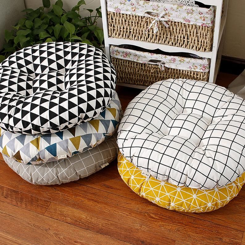 Chair cushions tufted bistro patio wicker chair pads