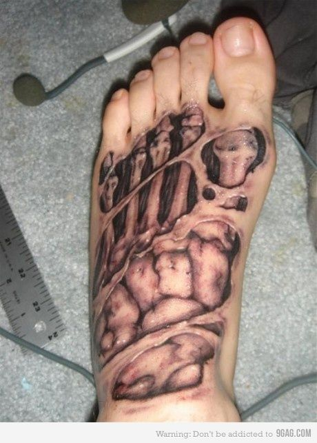 Zombie tat...it's gross and awesome at the same time