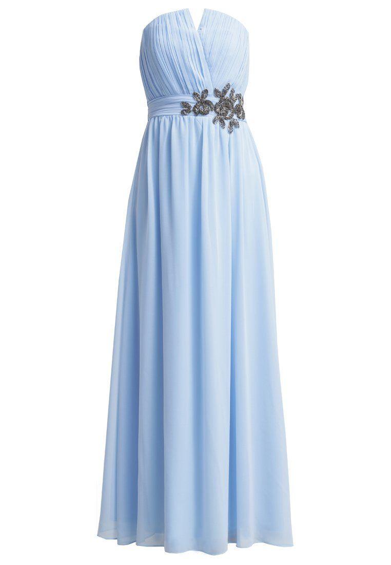 87f86846b2d6ec Little Mistress Suknia balowa light blue / błękitna długa gorsetowa sukienka
