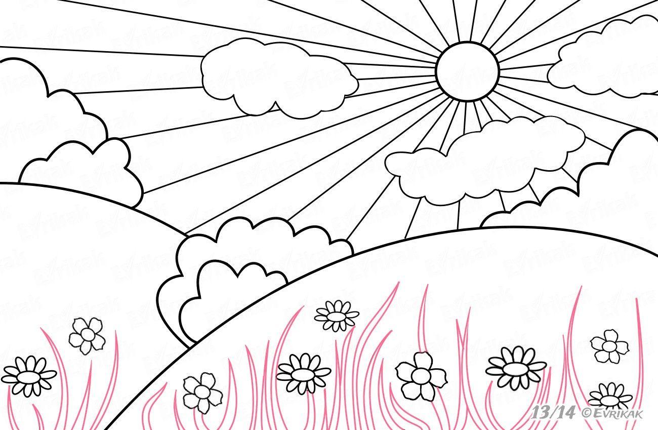 Рождением, солнечная погода картинки карандашом