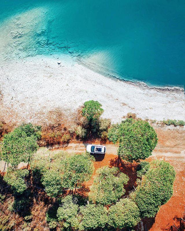 Photo © Simone Bramante @brahmino { Roads of Sardinia } • Traveling through pine forests by the sea, on the NE coast of this magnificent island, w/ @volkswagenitalia