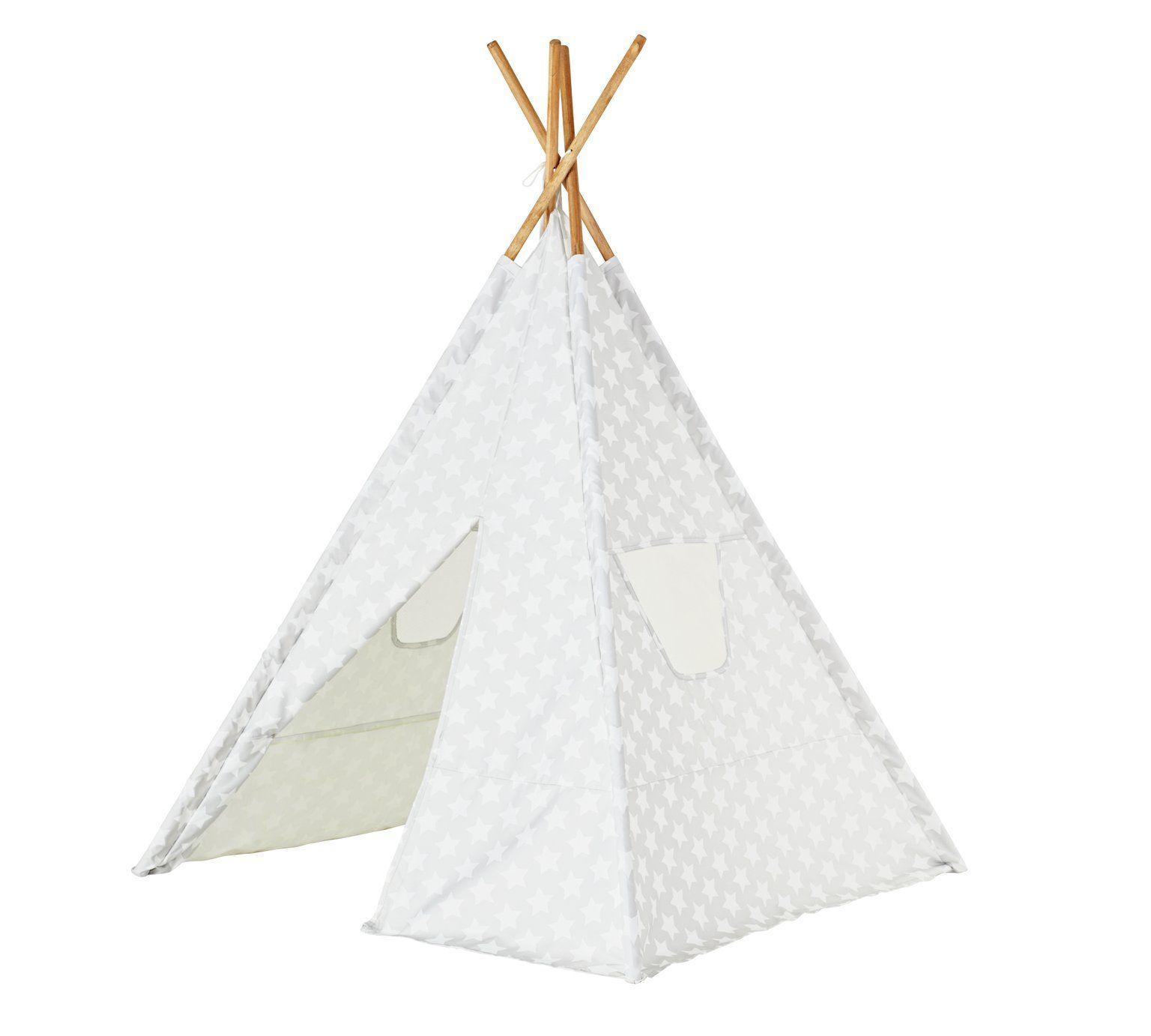 Buy Kaikoo Kids Play Teepee Tent  Silver At Argoscouk,