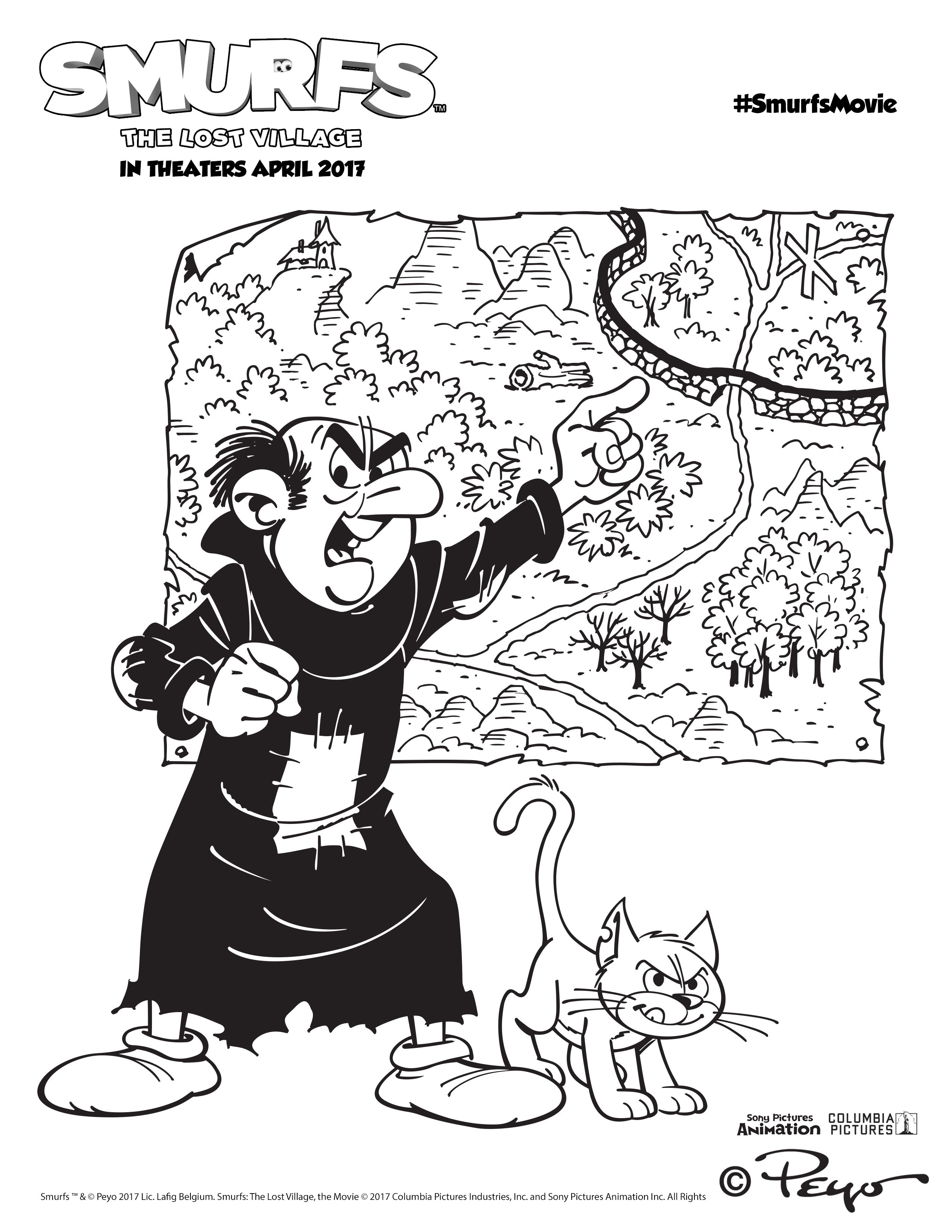 Colouring in pages smurfs - Top 11 Smurfs The Lost Village Coloring Pages