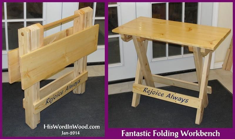 Folding Wood Workbench Portable Sy Easy To Build Plans Pdf Missions