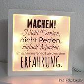 Beleuchteter Ikea Rahmen Mit Spruchen Seit Es Abends Ikea Frames Lighting Hacks Box Hacks