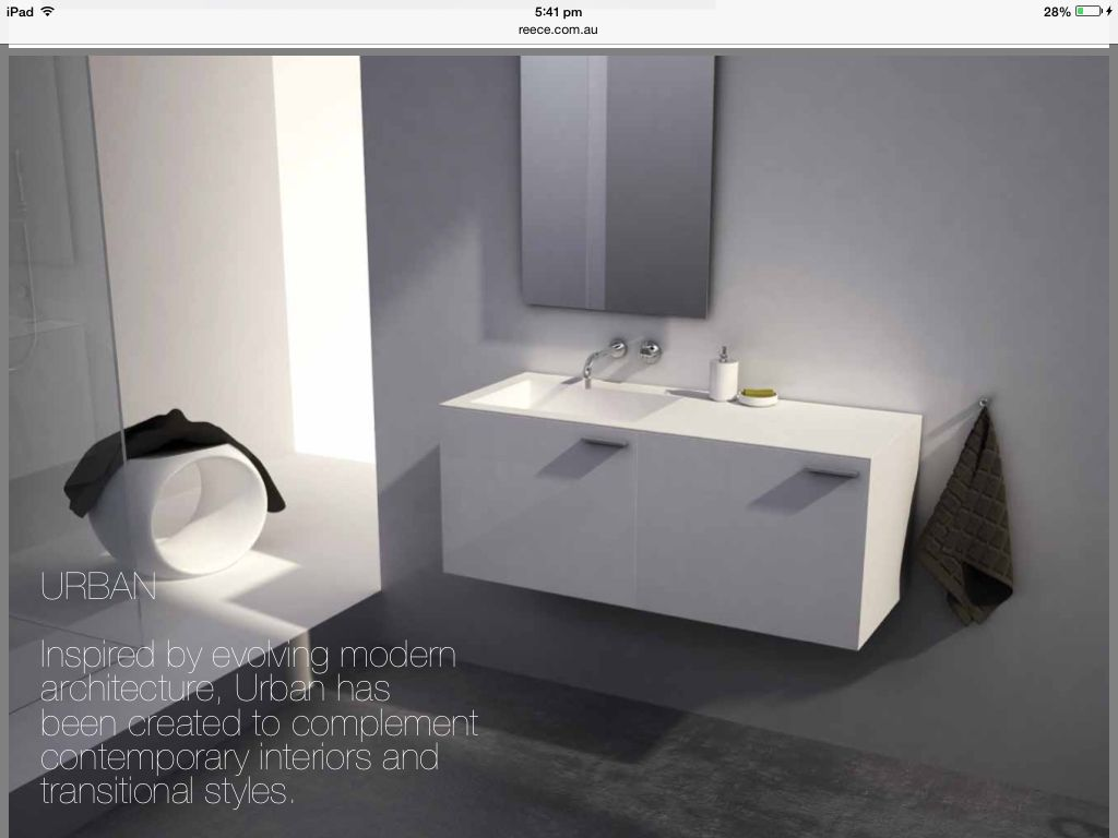 Bathroom Designs Reece omvivo's urban 1200 vanity in white gloss. exclusively from reece