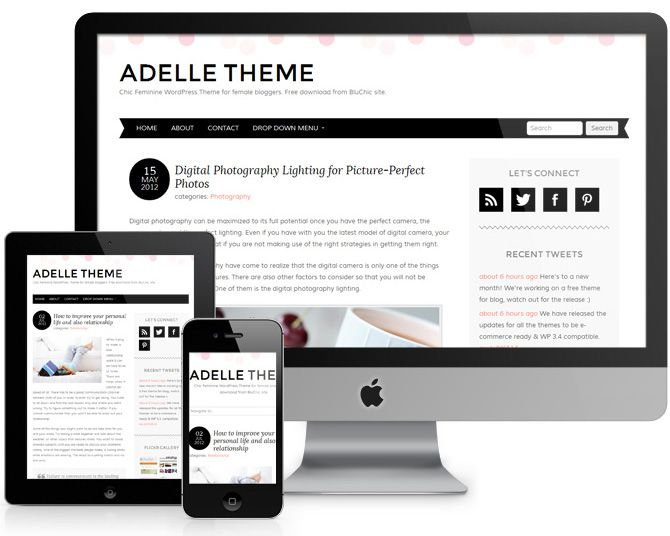 Adelle: A Free Responsive #WordPress Theme With a Pretty Blog Design ...