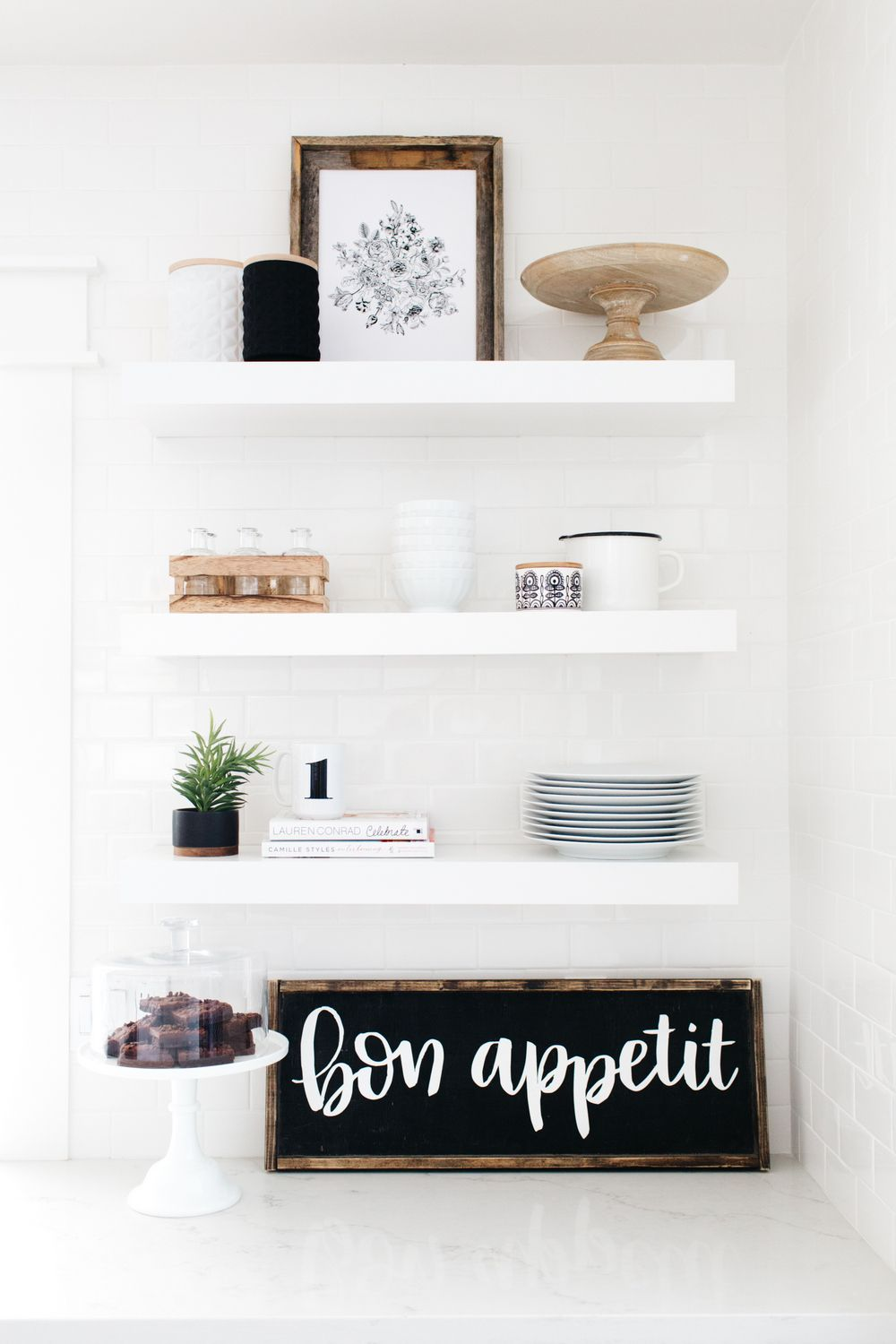 Our house remodel kitchen reveal open shelving open shelves and