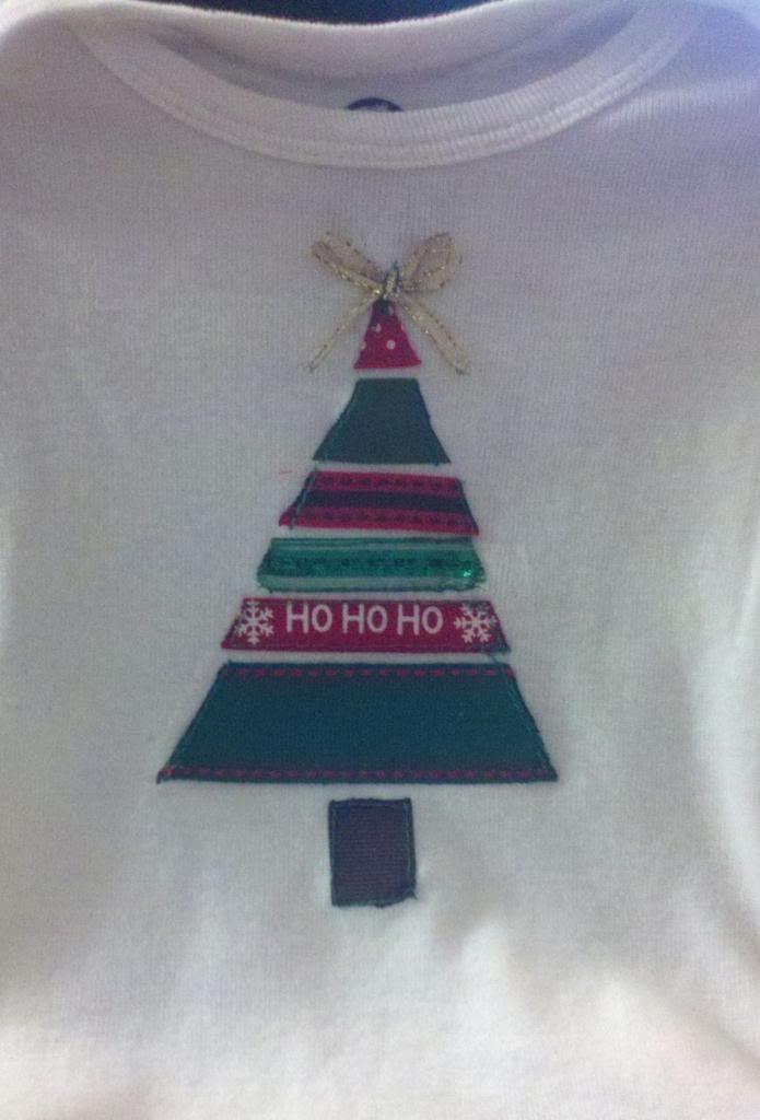 Crafty Fun Friday: Ribbon Christmas Tree shirt