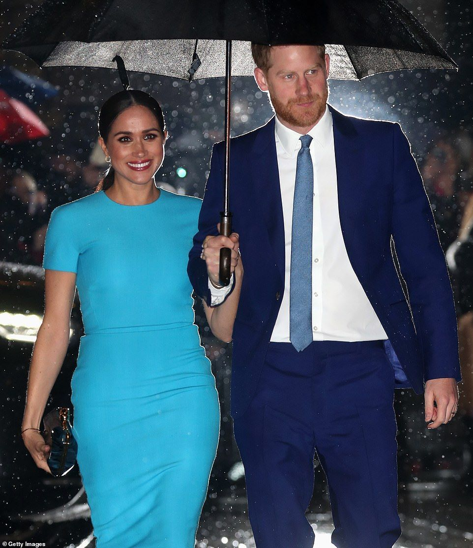 Harry and Meghan arrive at their first joint engagement since Megxit -  Meghan Markle makes first public appearance since Megxit | Daily Mail Online  - #arrive #CelebrityNews #CelebrityPhotos #engagement #first #harry #JamieDornan #joint #meghan #Megxit #their