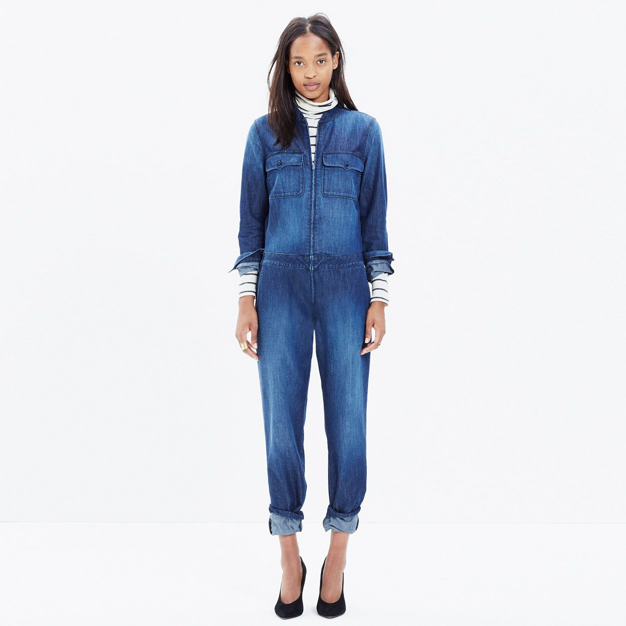 6577563366a Coverall Zip Jumpsuit   one-piece jeans