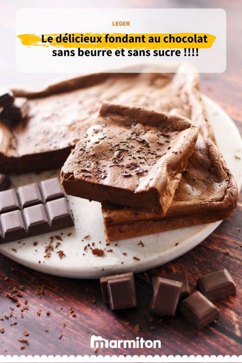 Fondant au chocolat sans beurre, sans farine, sans sucre ...