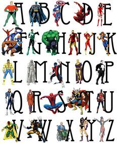 Superhero Abc Chart  Google Search  Education    Abc