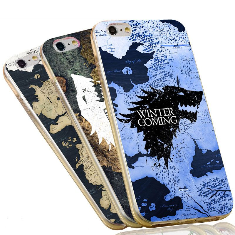 Jon snow game of throne wolf map soft tpu silicon phone case for the game of thrones world map soft silicon flexible tpu case cover for iphone 7 4 5 6 plus stark jon snow white wolf gumiabroncs Gallery