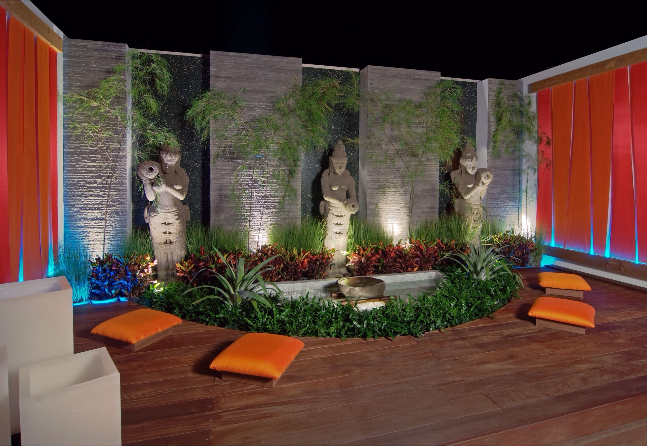 Bali style courtyard