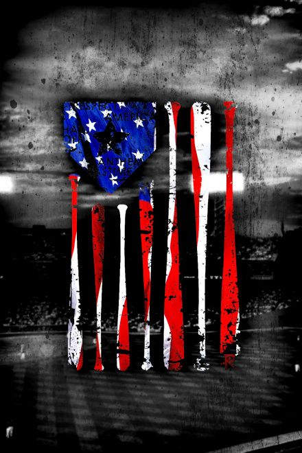 Merica Baseball Wallpaper