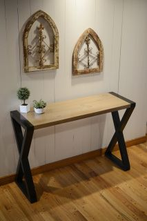 Surprising Extra Tall Hall Table With Crossed Legs Artifex Tables Machost Co Dining Chair Design Ideas Machostcouk
