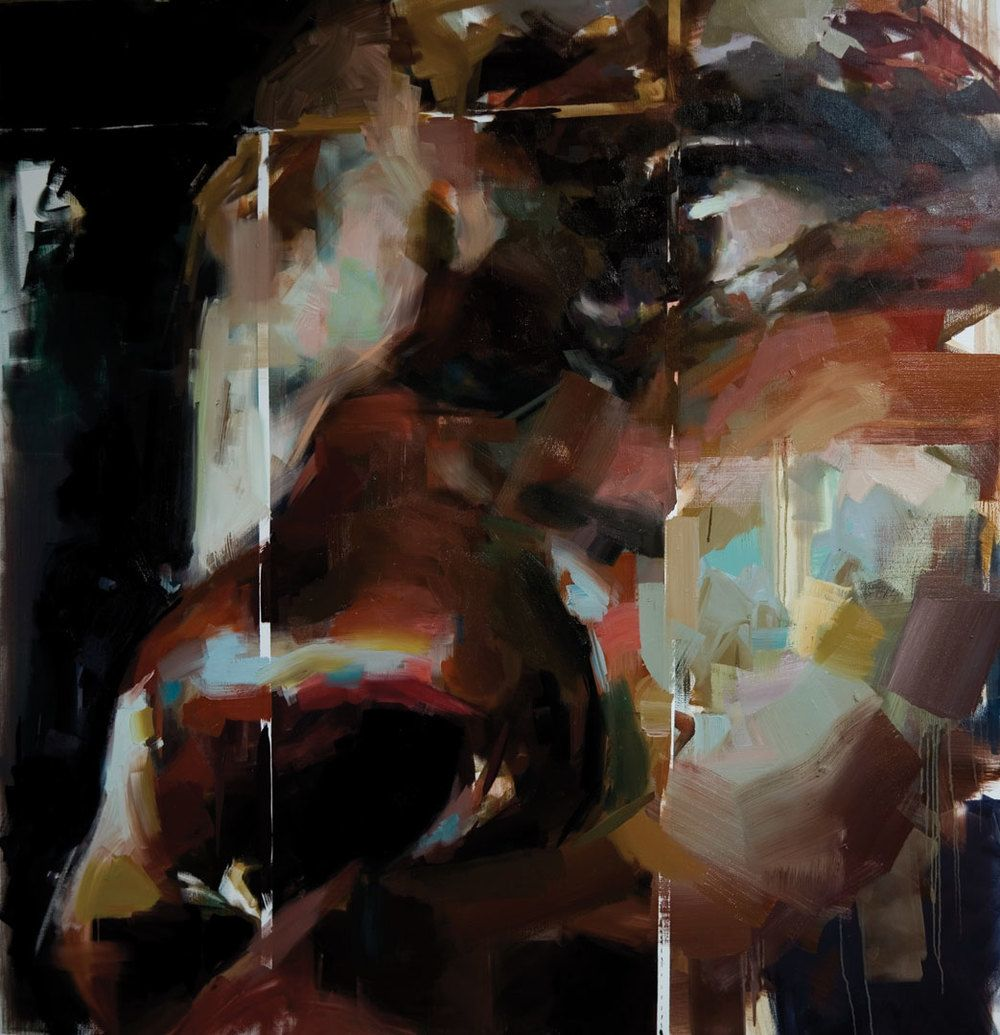 "Wounded Boxer. 2007, 79"" x 79"", (200 x 200 cm) oil on canvas"