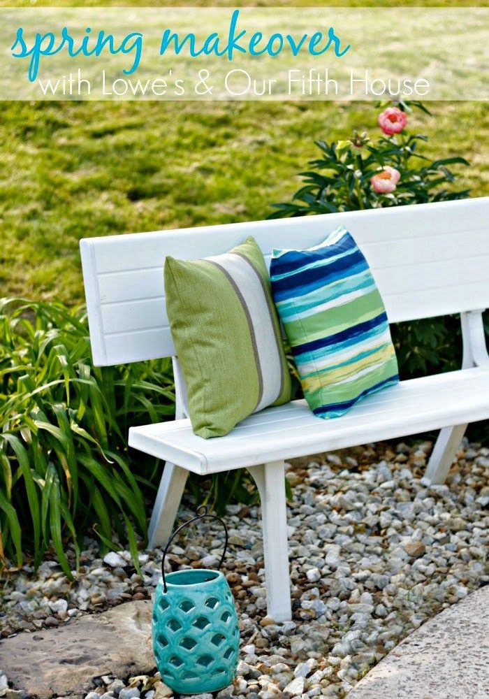 a backyard makeover with Lowe's - Our Fifth House
