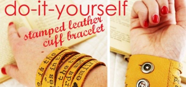 Making your own DIY Leather Bracelet is fun, easy and a great way to express your creativity. This tutorial will show you how to make your own leather cuff.
