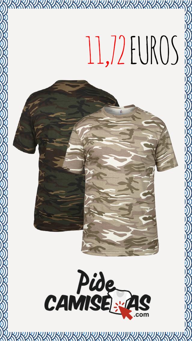 Camiseta Camuflaje de varios colores y 100% algodón hilado en anillo ... 2b16ecbb970