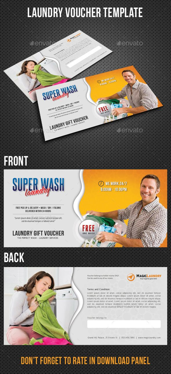 Laundry Services Gift Voucher | Gift vouchers, Laundry service and ...