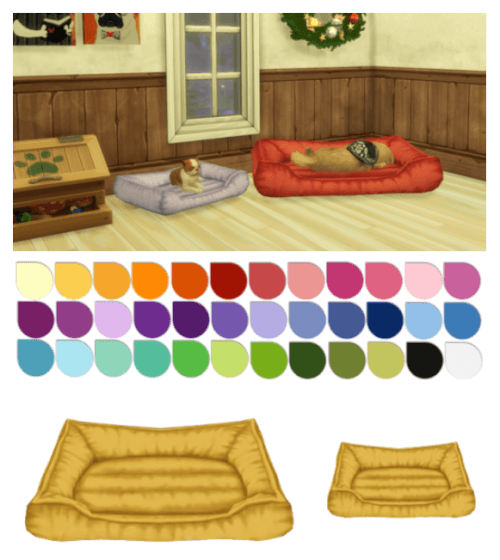 Small Pet Beds For The Sims 4 Sims 4 Sims 4 Cc Furniture Sims 4 Pets