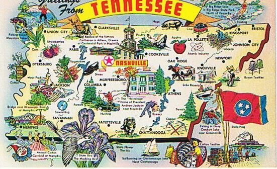 "Tennessee Locker Magnet Nashville Vintage Travel Poster 2/"" X 3/"" Fridge"