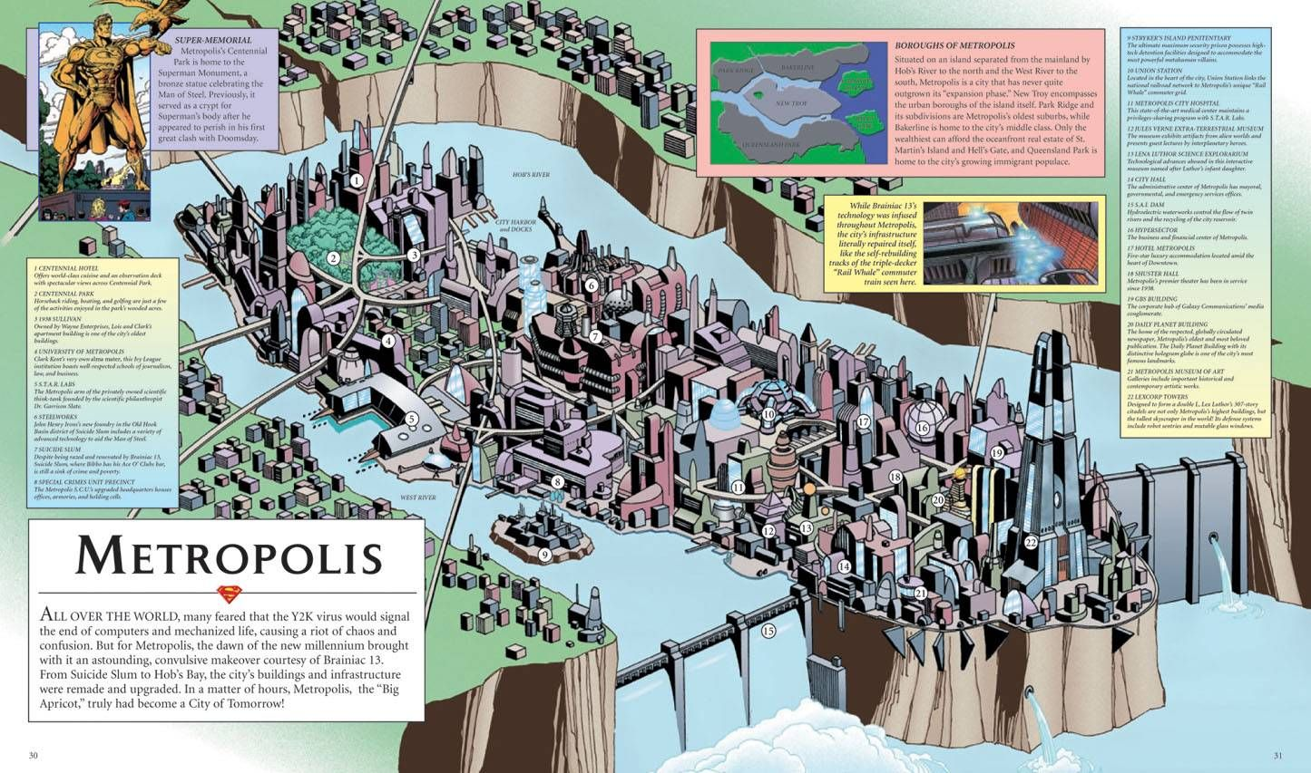 A 3D Look at Superman's Metropolis No one in their right mind would Dc Comics World Map on