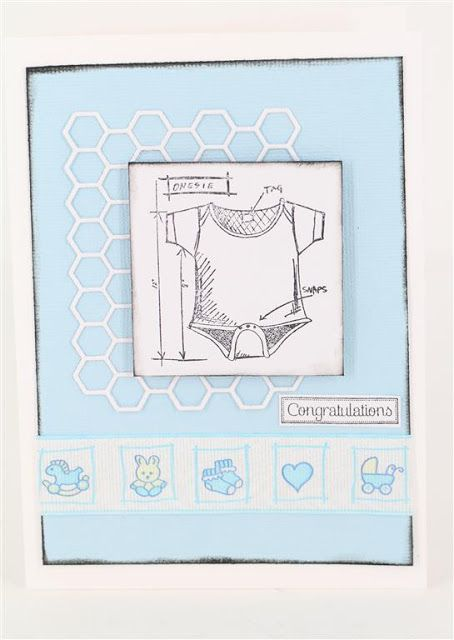 Baby blueprints stamp craft queen ribbon and honey pot die www materials tim holtz baby blueprint stamp baby pink satin seam binding tiny flower button just a little greeting stamp ma malvernweather Gallery