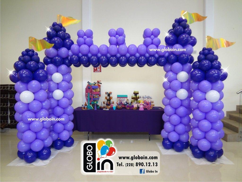 castillo de globos