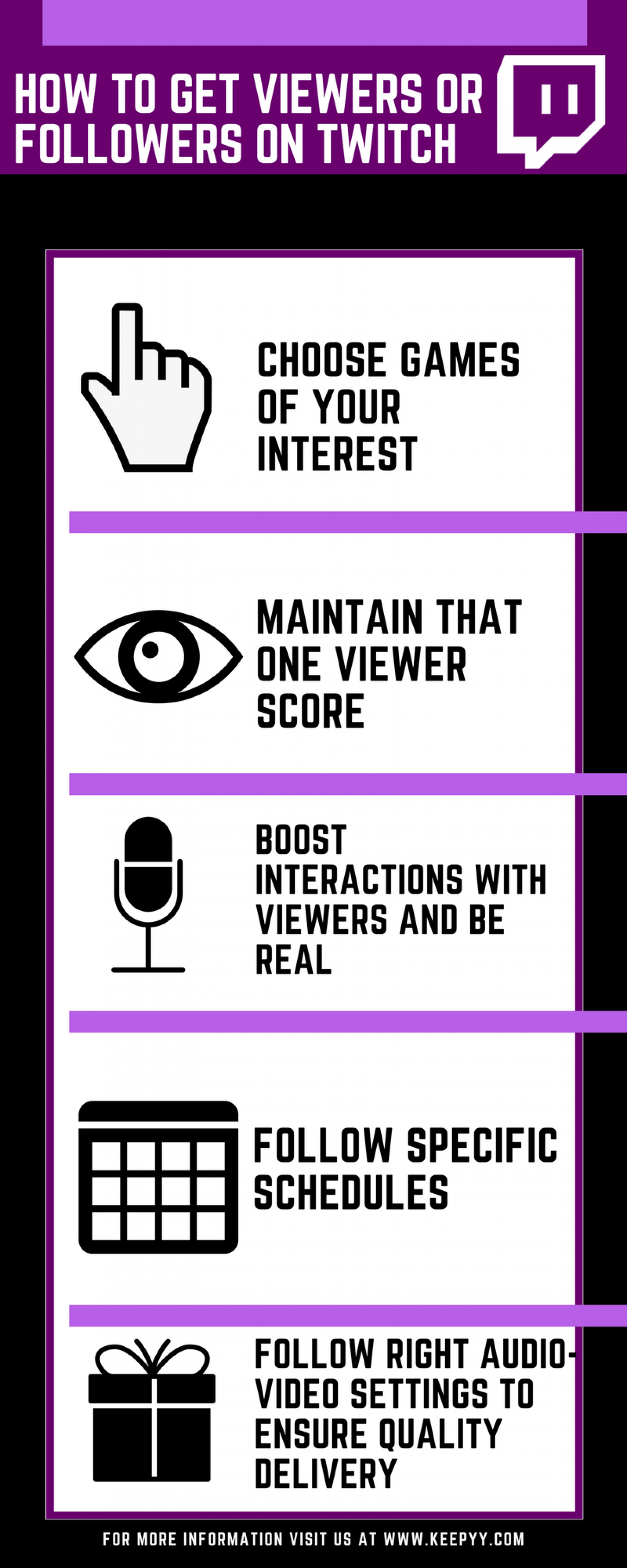 How to Get Viewers or Followers on Twitch Infographic