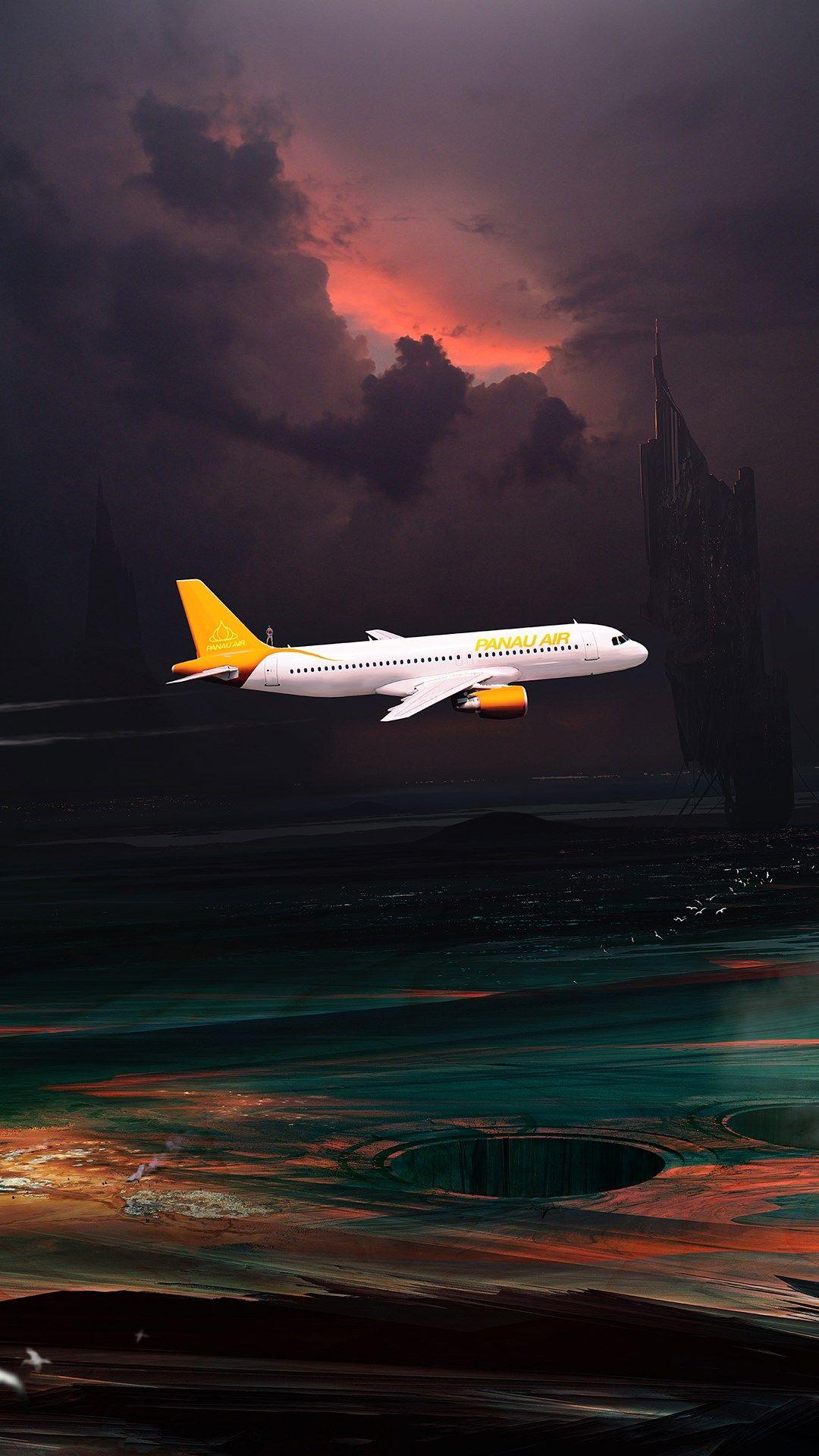 airplane iphone wallpaper free download Digital artwork