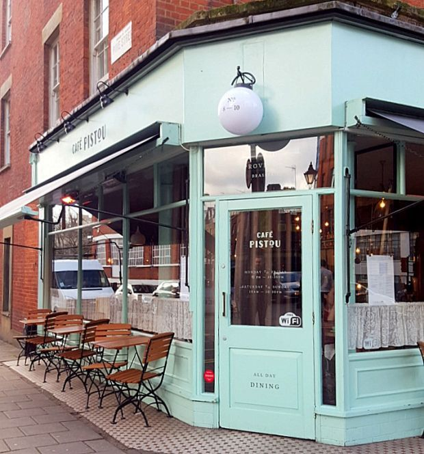 Cafe Pistou Exmouth Market Places To Eat London Restaurant Exterior Restaurant Exterior Design Cafe Exterior