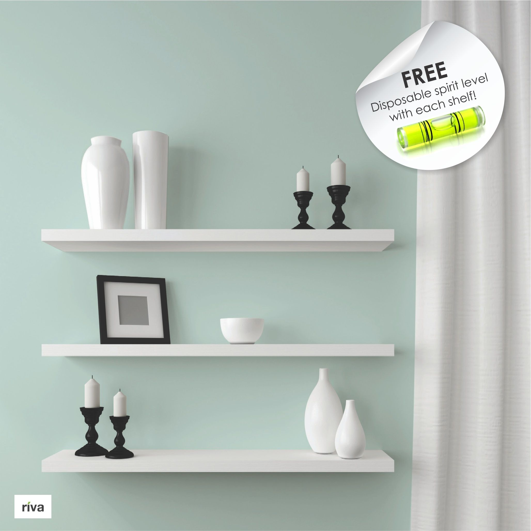 RIVA Wood Floating Shelves available at Builders Warehouse Builders