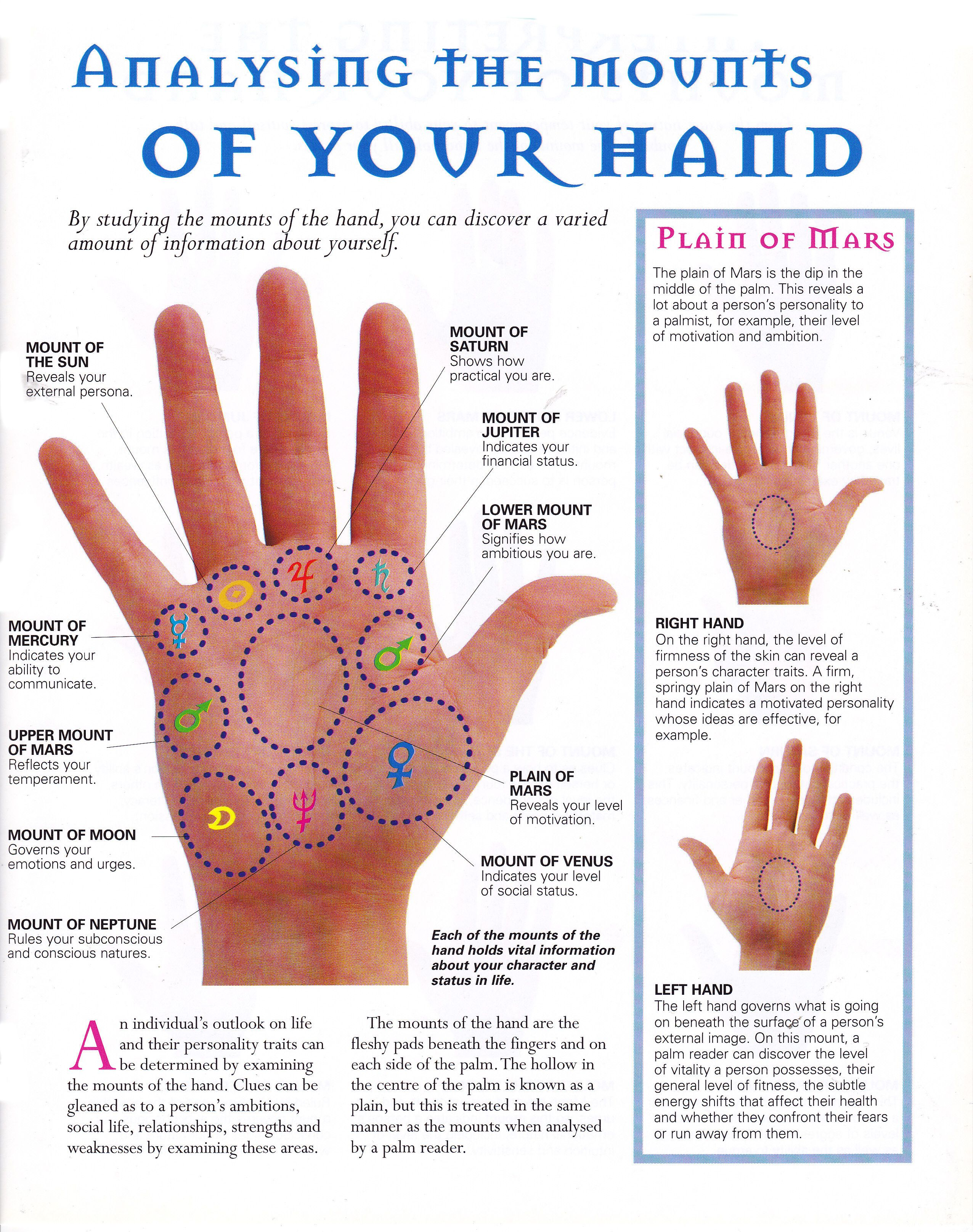 Guessing on the hands (palmistry): the value of lines 40